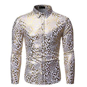 يانغفان الرجال الفاخرة تصميم قميص الأزهار