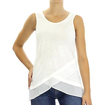 Desigual Women Knitted Tank top Carola Regular fit  Sleeveless White