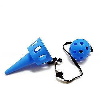 Børns kaste fange bold udendørs sportsudstyr catcher sjovt legetøj (blå)