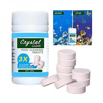 Lohill 100g Swimging Pool Rengøring Tabletter Flydende Klor Hot Tub Dispenser Chemical Kit