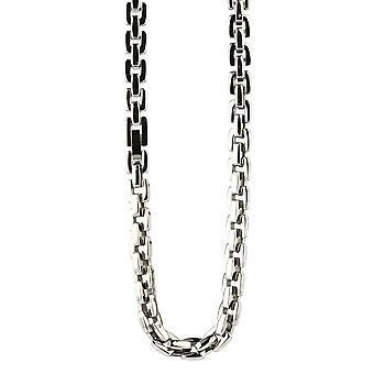 Ti2 Titanium vierkante Chain - zilver gepolijst