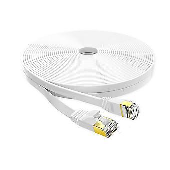 Cable de red Ethernet Cat 7 de 2 metros blanco