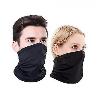 Hals Gaiter Face Cover Tørklæde (Sort)