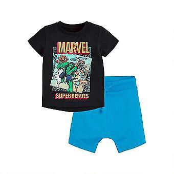 Little Boy Kids Summer Outfits Shirt Short Sets(90cm)