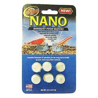 Zoo Med Nano Banquet Food Blocks - .3 oz (6 Pack)