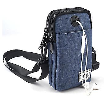 Outdoor sports mobile phone bag tactical bag(Blue)