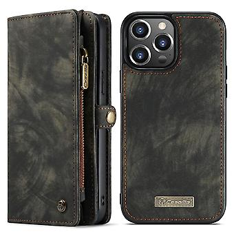 CASEME iPhone 13 Pro Max Retro Wallet Case - Nero