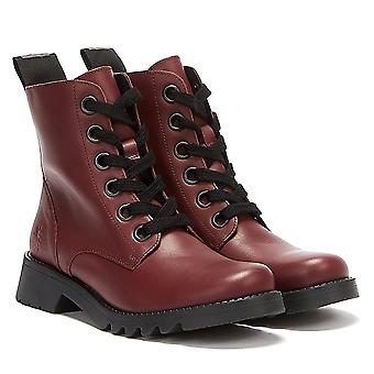 Fly London Ragi Women Red Boots
