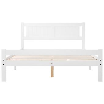 Double Bed Frame In Solid White For Adults, Kids, Teenagers