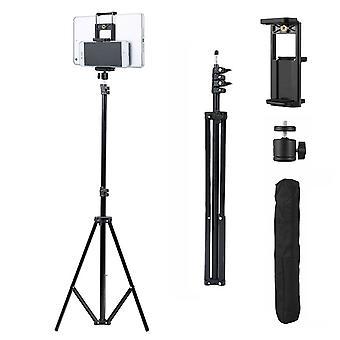 Réglable 1.6M Trépied Stand Caméra Téléphone Tablette Universal Aluminium Mount Noir