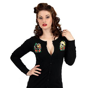 Liquor brand - panthers womens cotton cardigan