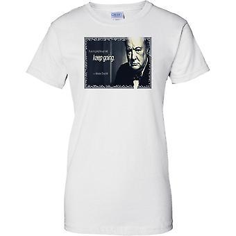 2 ª Guerra Mundial de Winston Churchill - pasando por citar infierno - PM - señoras T Shirt