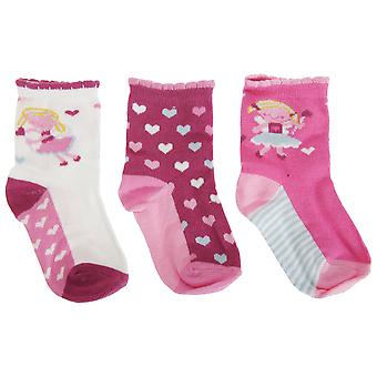 Baby Girls Cotton Rich Fairy Design Socks (3 Pairs)