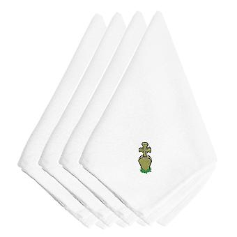 Halloween Tombstone Embroidered Napkins Set of 4