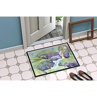 Carolines Treasures  8544-MAT Manatee  Indoor or Outdoor Mat 18x27 8544 Doormat