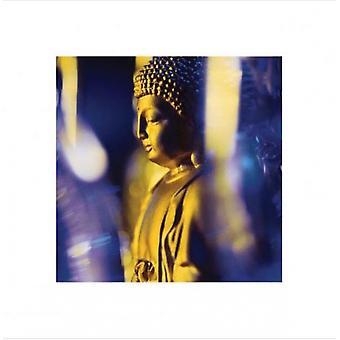 El Blue Buddha cartel Poster Print