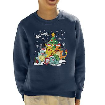 Pokemon Under The Christmas Tree Kid's Sweatshirt