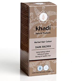 Khadi Hair Colour - Dark Brown 100g