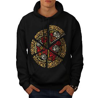 Pizza Slice Fast Mix Food Men BlackHoodie | Wellcoda