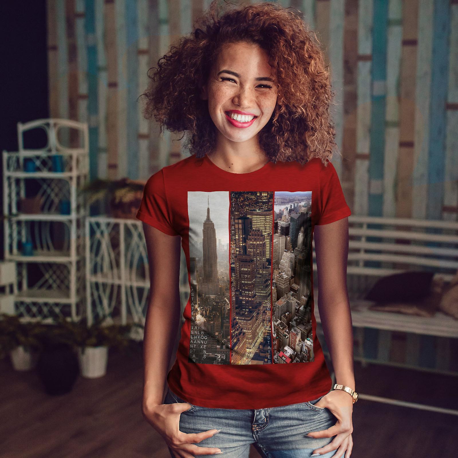 Night City Design RedT-chemise femme   Wellcoda