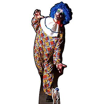 Scary Male Killer Clown Halloween Lifesize Cardboard Cutout / Standee / Standup