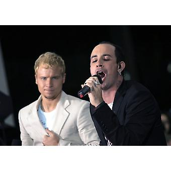 Brian Littrell Aj Mclean On Stage For Nbc Today Show Concert Series With The Backstreet Boys Rockefeller Center New York Ny June 10 2005 Photo By Fernando LeonEverett Collection Celebrity