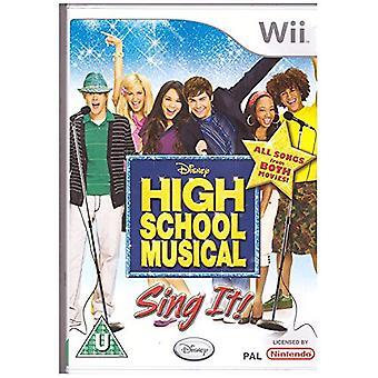 High School musikaliska Sing It! (Wii)-fabriken förseglad