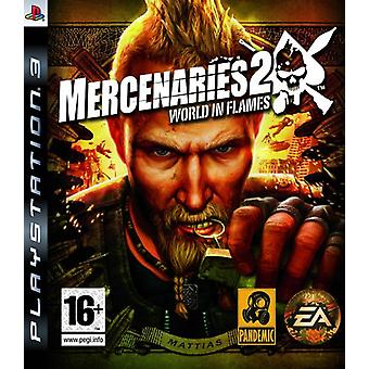 Mercenaries 2 World in Flames (PS3)-fabriken förseglad
