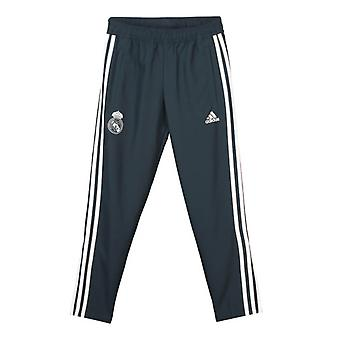 2018-2019 Real Madrid Adidas Woven Pants (dunkelgrau) - Kinder