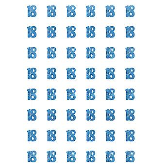 Bursdag glitter blå 18nde bursdag prisme hengende dekorasjon