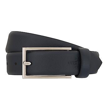 OTTO KERN belts men's belts leather belt Navy/Blue 7011
