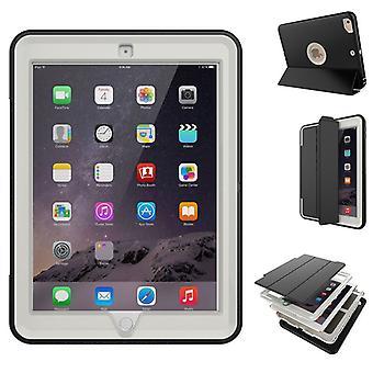 Flerdelat hybrid utomhus skyddsfodral fall Grau för Apple iPad Pro 9,7 Pocket vakna med 3folt
