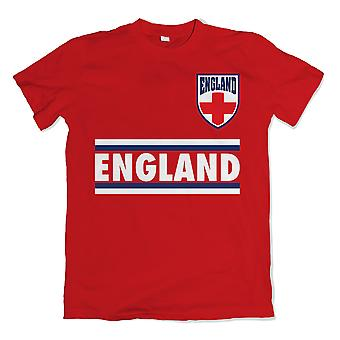 L'Angleterre Shield Logo T-Shirt (rouge)