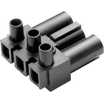 Adels-Contact AC 166 GST/ 3 Mains connector AC Series (mains connectors) AC Plug, right angle Total number of pins: 2 + PE 16 A White 1 pc(s)