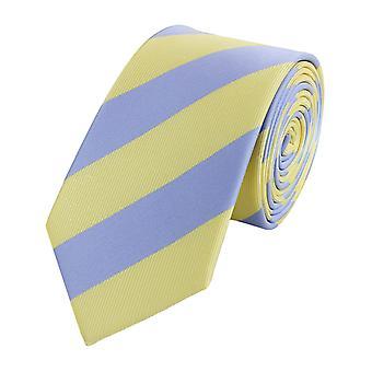 Tie tie tie tie leveä 6cm keltainen/sininen raidallinen Fabio Farini