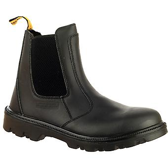 Amblers Steel FS129 Mens Leather Dealer Safety Work Boots Black