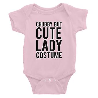 Chubby But Cute Lady Costume Baby Bodysuit Gift Pink