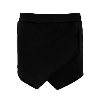 女性スマート ラップ フロント非対称裾ミニ キュロット アンダース コート平野 Hotpant ショート パンツ
