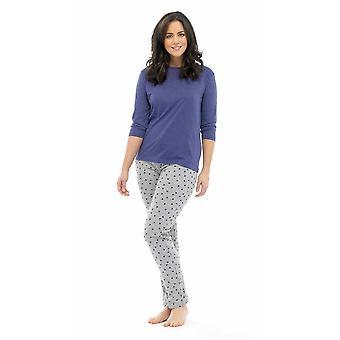 Ladies Tom Franks Star Print Polycotton Long Pyjama pajama Lounge Wear Sleepwear
