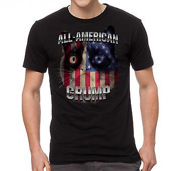 Norse kat alle Amerikaanse Grump mannen zwart grappig T-shirt