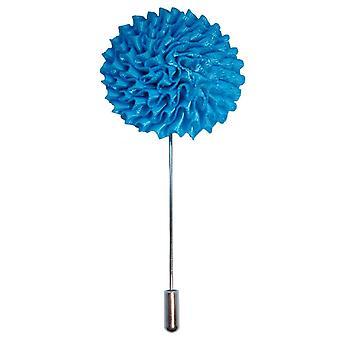 Bassin og brun stor blomst jakkeslaget Pin - blå
