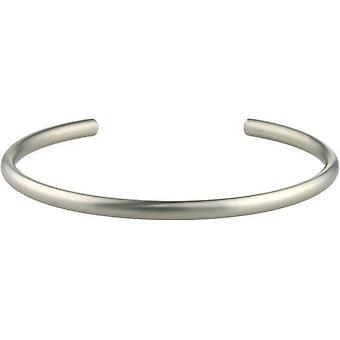 Ti2 titanio 4mm ancho corte Torc brazalete - plata mate