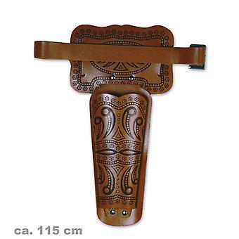 Revolver ceinture adulte 115 cm cow-boy shérif Wild West bandit