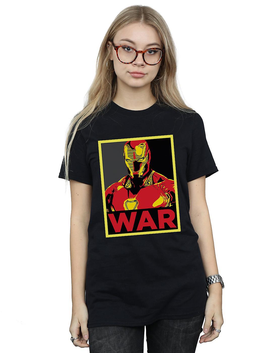 Marvel Women's Avengers Infinity War Iron Man War Boyfriend Fit T-Shirt