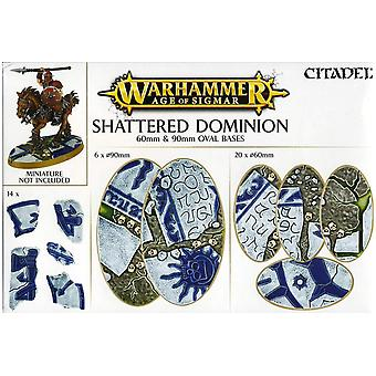 Games Workshop Warhammer Age Sigmar Shattered Dominion Oval Bases 60/90 mm