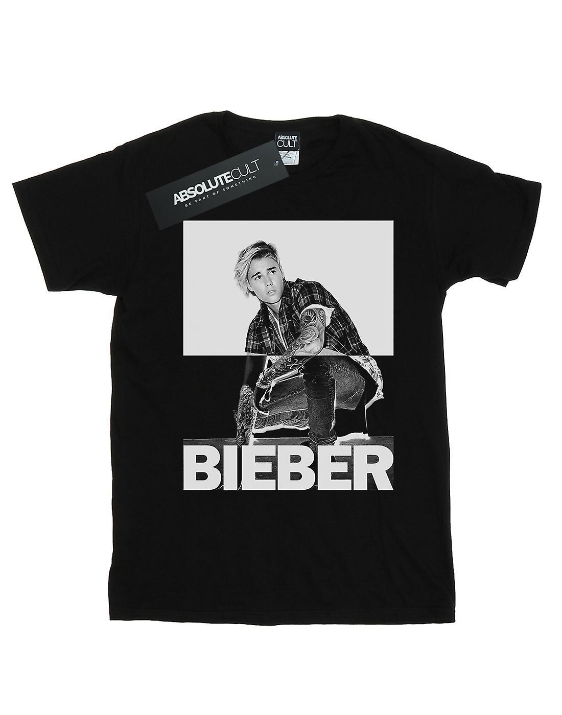 Justin Bieber Girls Split Contrast T-Shirt