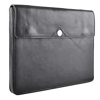 Saddler Wegner Genuine Leather case tablet/Laptop Black 25, 5x20x2, 3cm