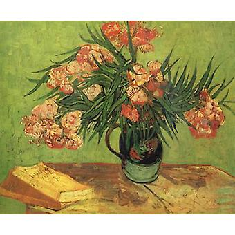 Vaste avec Oleanders and Books, Vincent Van Gogh, 60,3 x 73,6 cm