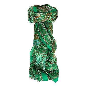 Maulbeere traditionellen langen Seidenschal Purna Grün von Pashmina & Seide