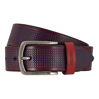MIGUEL BELLIDO sports wear belts men's belts leather belt red/blue 7702